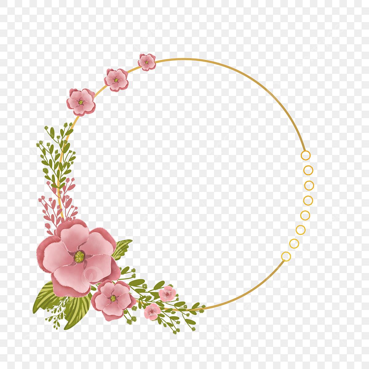 Lime And Pink Wedding Invitation Circle Frame Decoration, Bunga ...