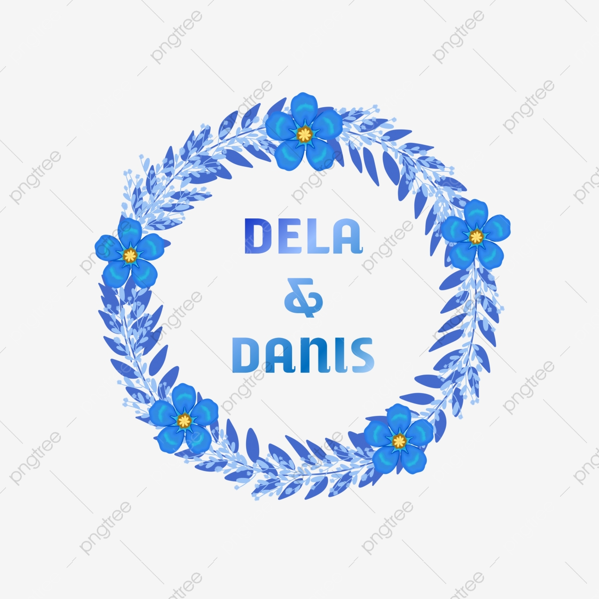 Simple Blue Rose Wedding Flower Bunga Rancangan Menanam Png Transparent Clipart Image And Psd File For Free Download