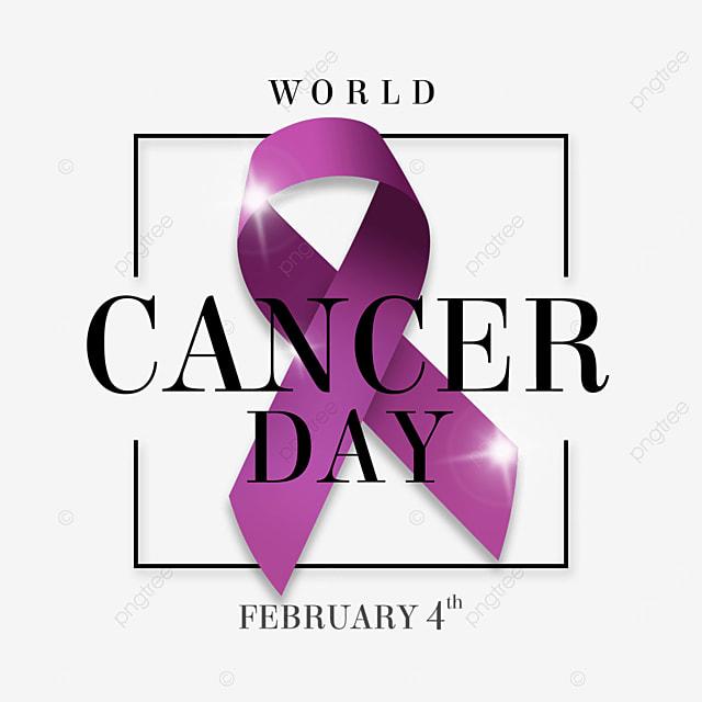 the world cancer day line creative ribbon