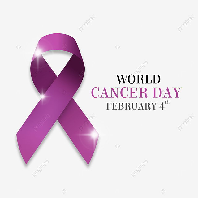 the world cancer day medical gradient ribbon
