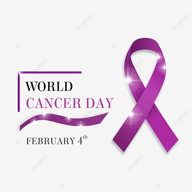 the world cancer day ribbon glow creative