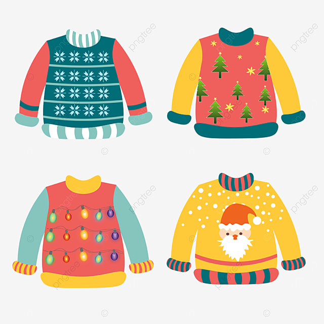 red and yellow combination gradient ugly christmas sweater