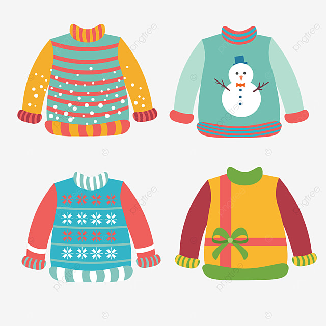 ugly gradient combination christmas sweater