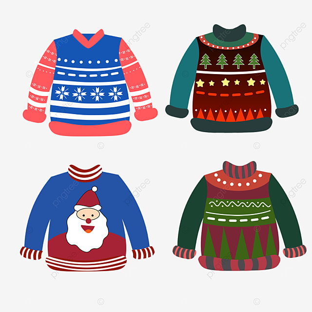 ugly red and green combination christmas sweater