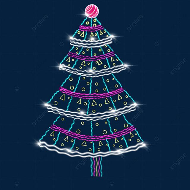 a glowing christmas tree