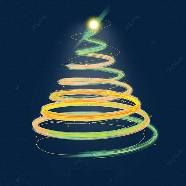 gradient light effect glowing line christmas tree