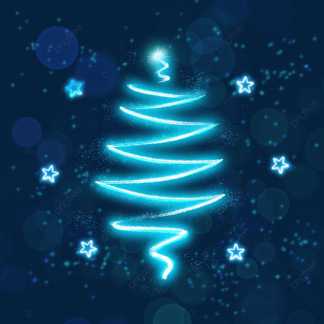 decorated glowing light effect christmas tree
