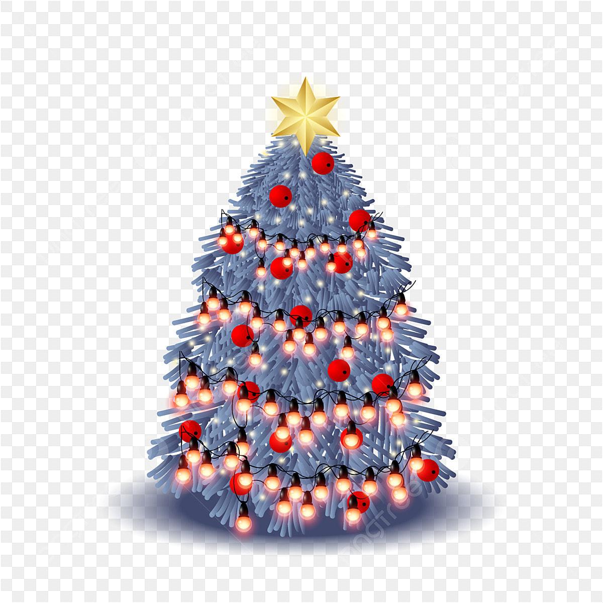 Beautiful Christmas Tree Design With Decorative Lights, Christmas ...