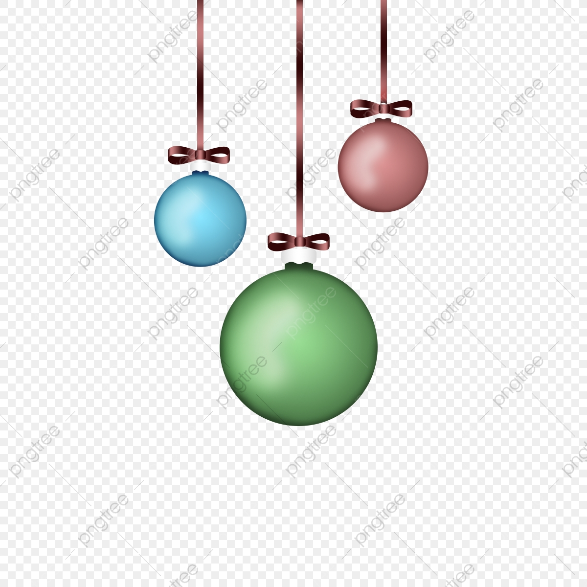 Coloroful Christmas Tree Baubles With Ribbon Colorful Christmas Tree Png Transparent Clipart Image And Psd File For Free Download