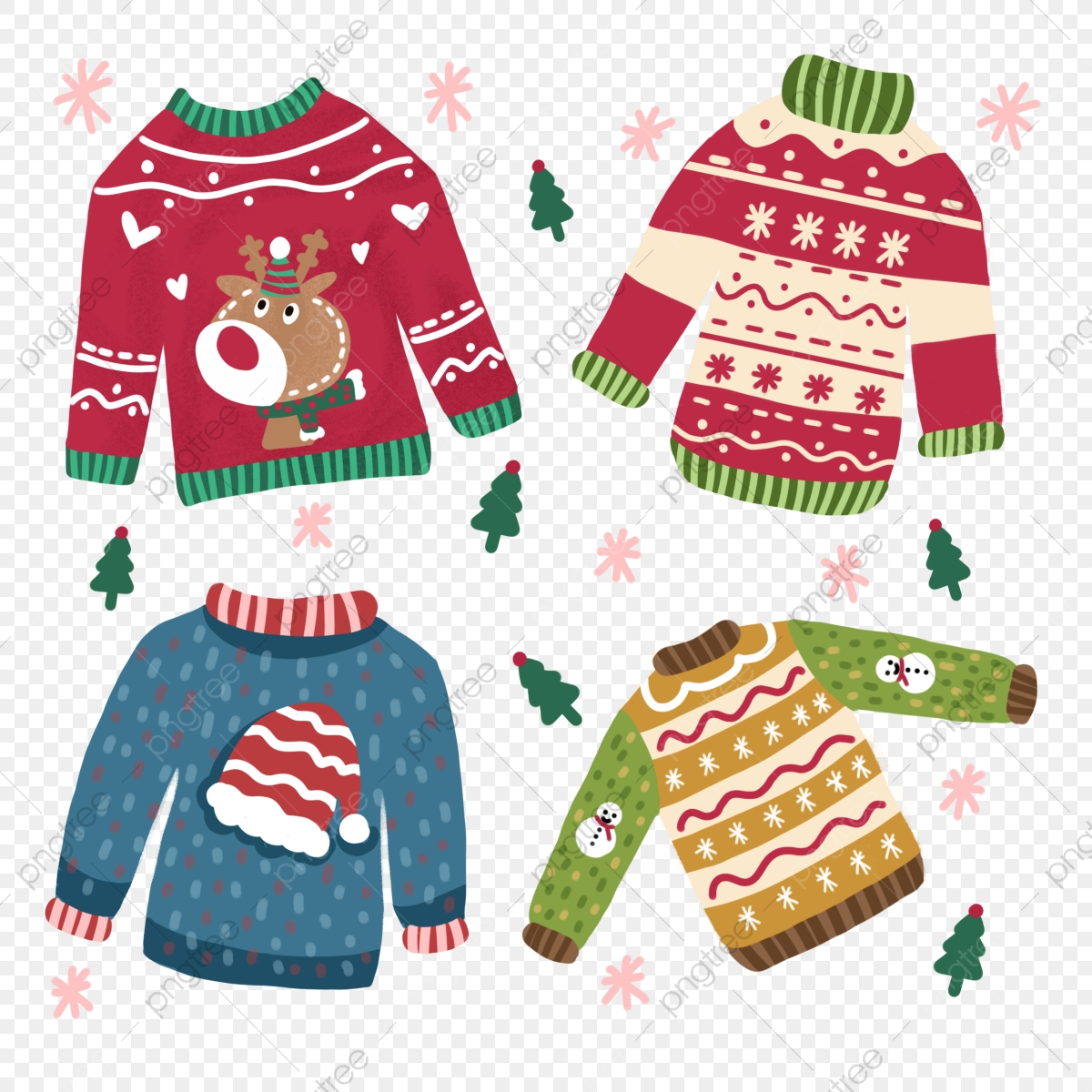 Illustration Elk Ugly Christmas Sweater Ugly Christmas Sweater Clipart Ugly Christmas Sweater Png Transparent Clipart Image And Psd File For Free Download