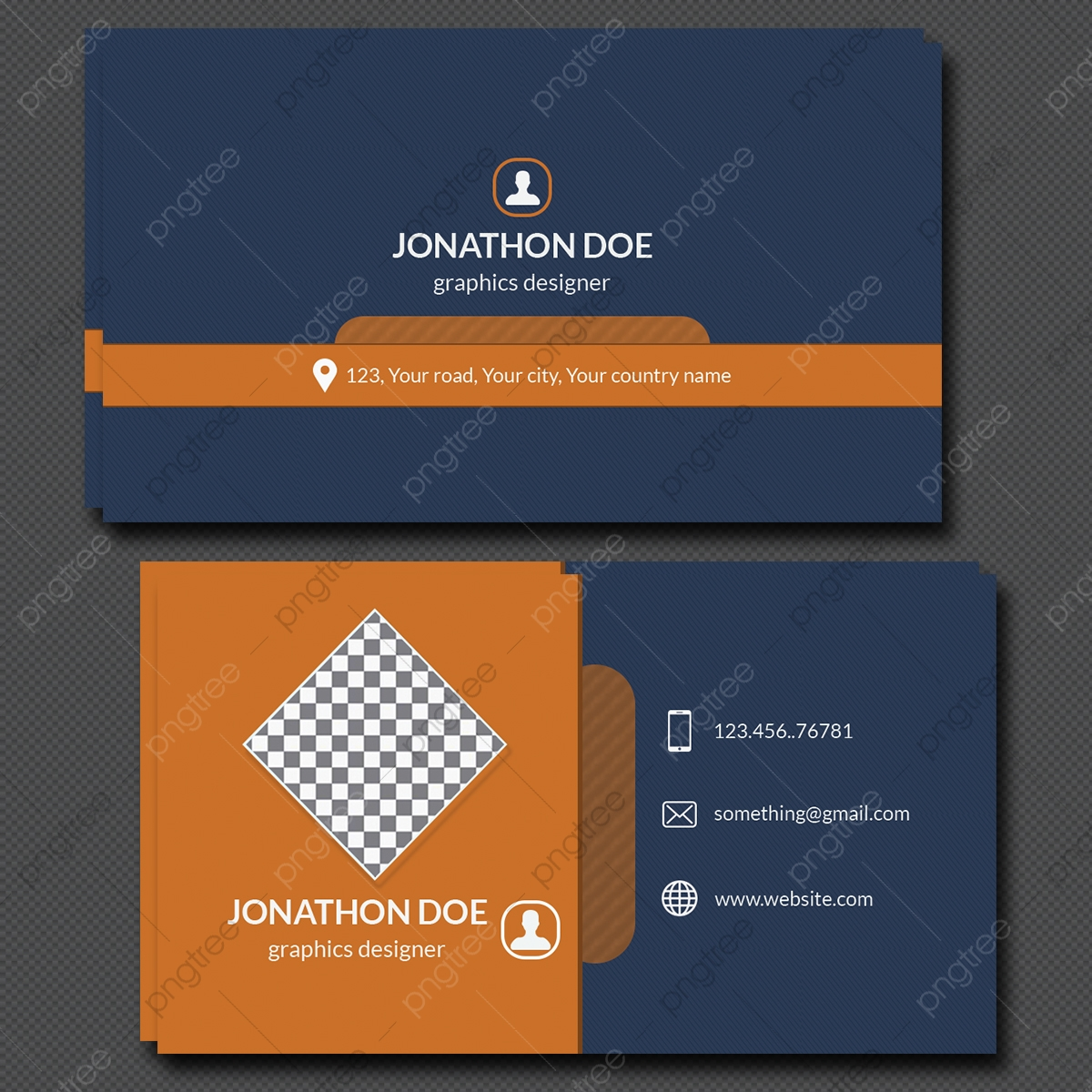 Personal Business Card Template Template Download on Pngtree