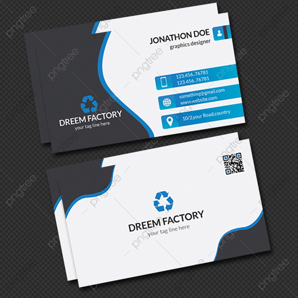 Simple Blue And White Business Card Template Download on Pngtree