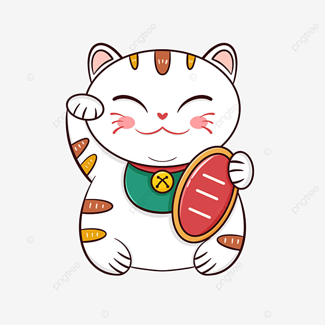 Cute Cartoon Japanese Lucky Cat Lucky Cat Cartoon Lovely Png Transparent Clipart Image And Psd File For Free Download
