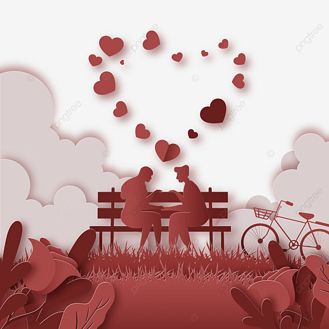valentines day couple sitting in chair