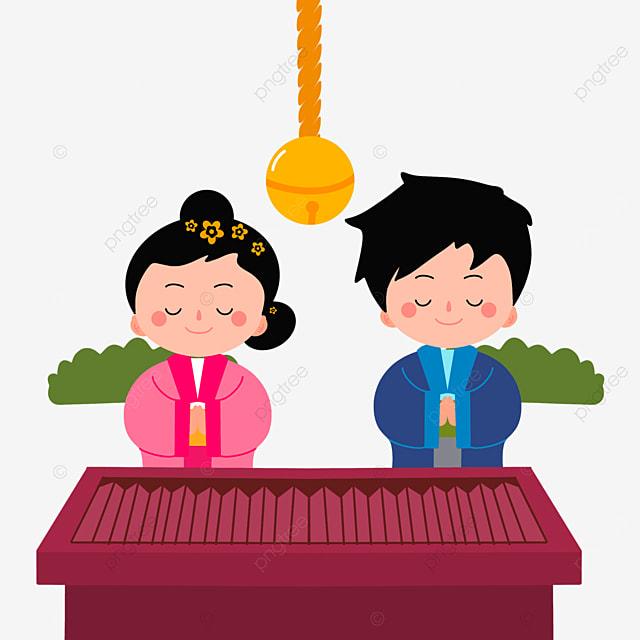 oshogatsu japanese new year prayer hatsumode closed eyes praying characters