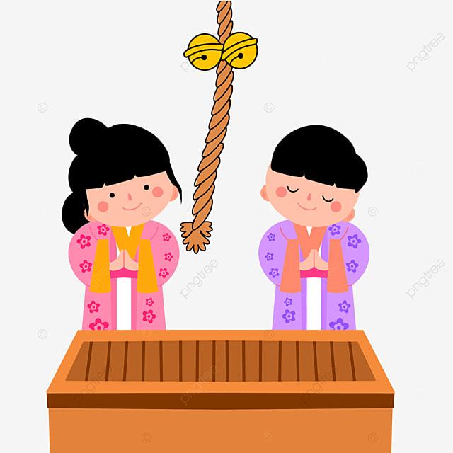 oshogatsu japanese new year prayer hatsumode cute cartoon villain
