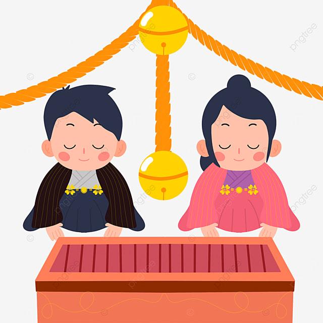 oshogatsu japanese new year prayer hatsumode flat wind character