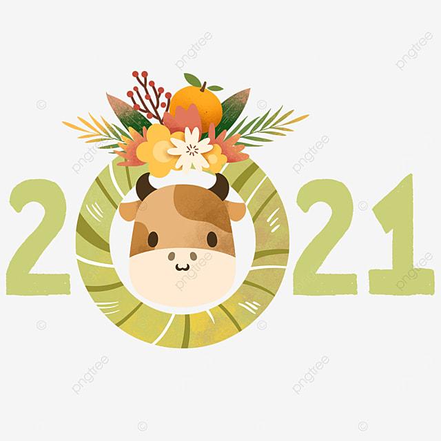 kawaii watercolor cow creative 2021