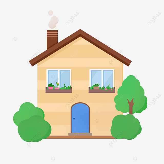 beautiful and warm home clipart