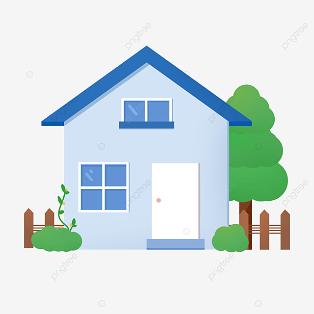 chic blue home clipart