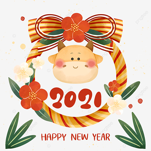 color cute 2021 japanese new year