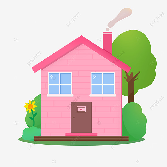 pink home clipart
