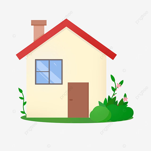 plain and bright home clipart