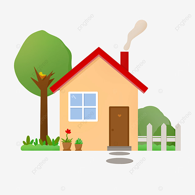 red roof home clipart
