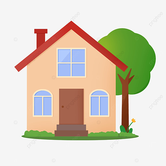 smart and cute home clipart