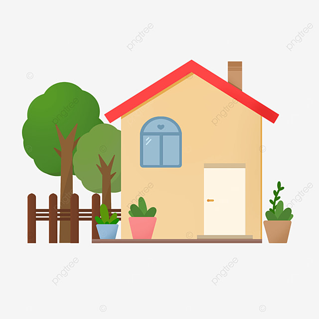 warm and lovely home clipart
