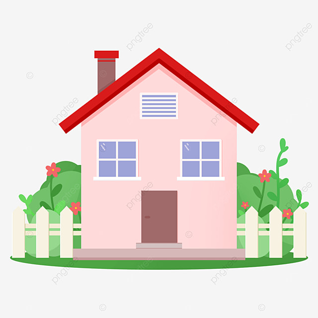 warm pink home clipart