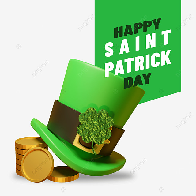 3d hat laying on gold for saint patrick day