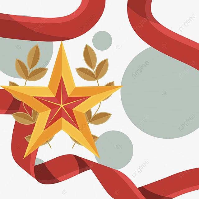 defender of the fatherland day red ribbon