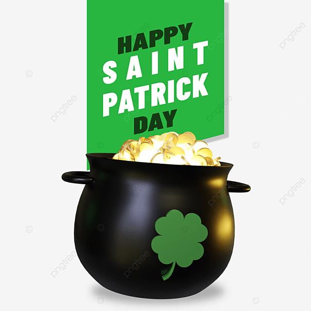 happy saint patrick day with gold barrels cloverleaf logo on it