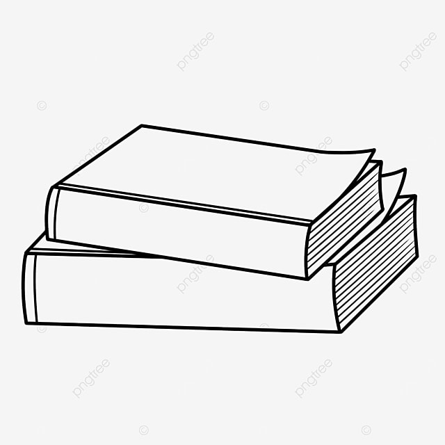 Two Books Black And White Clipart Book Clipart Black And White Book Clipart Png Transparent Clipart Image And Psd File For Free Download