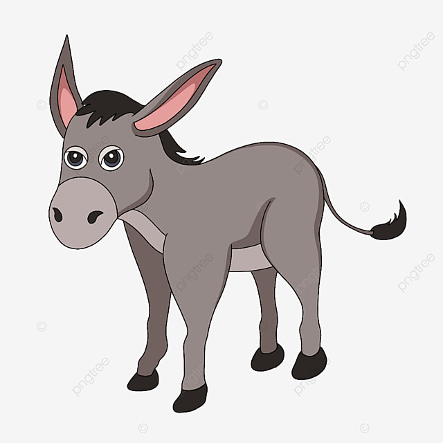 angry brown donkey clipart