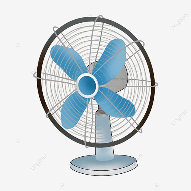 blue fan blade electric fan clipart