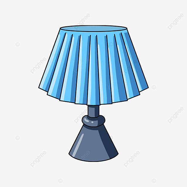 blue fold lamp clip art