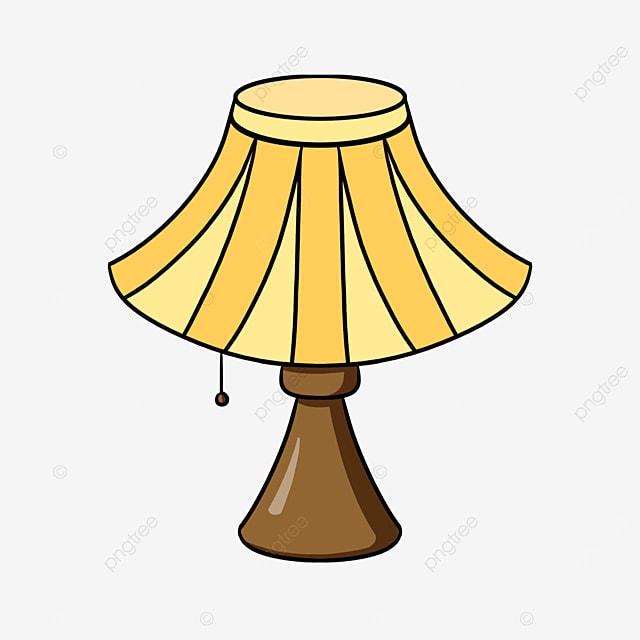 cartoon bedroom lamp clipart