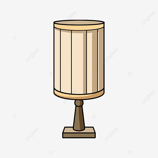 cartoon cylindrical lamp clipart
