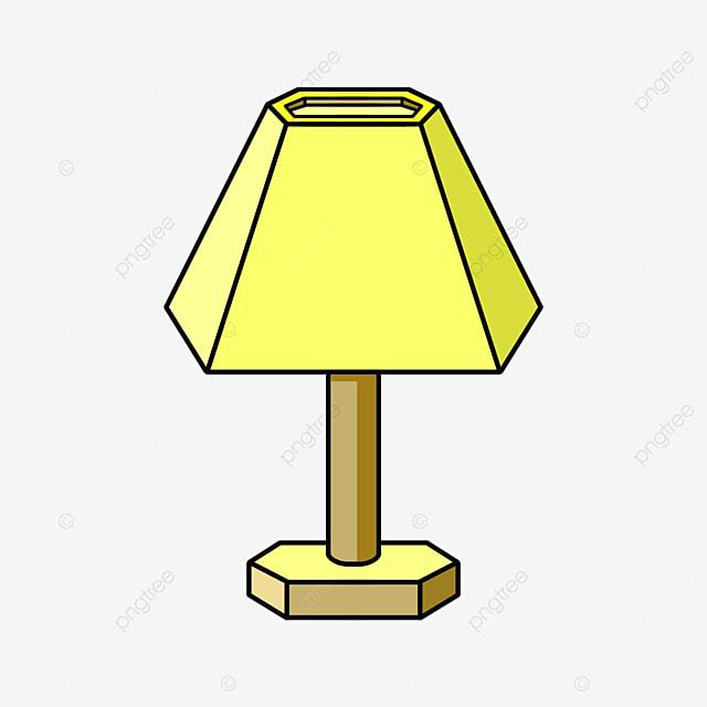 cartoon yellow lamp clipart