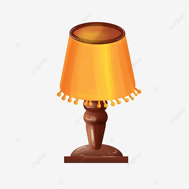 classical bedroom lamp clip art