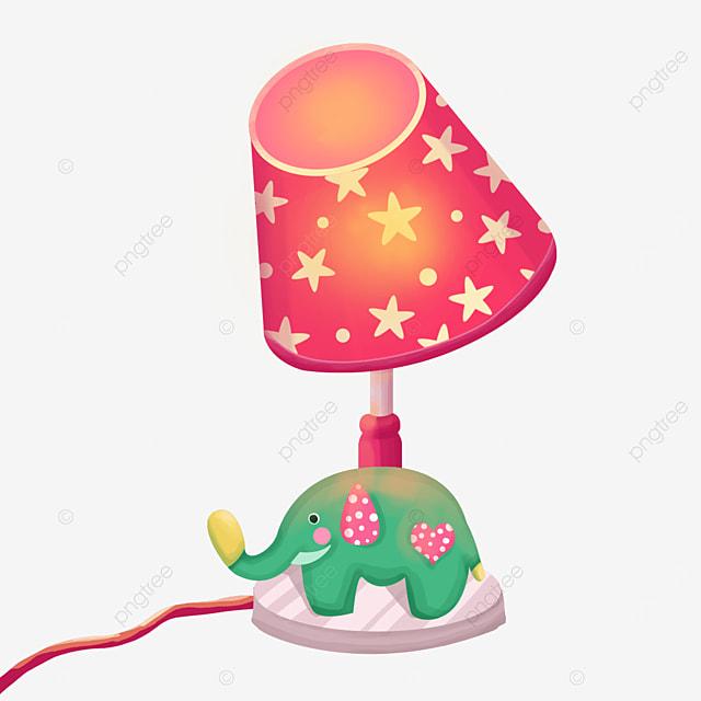 cute elephant lamp clip art