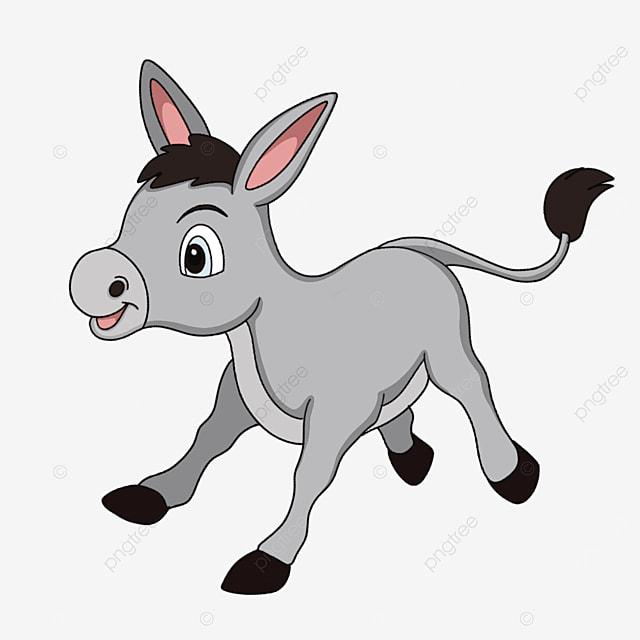 cute little gray donkey clipart