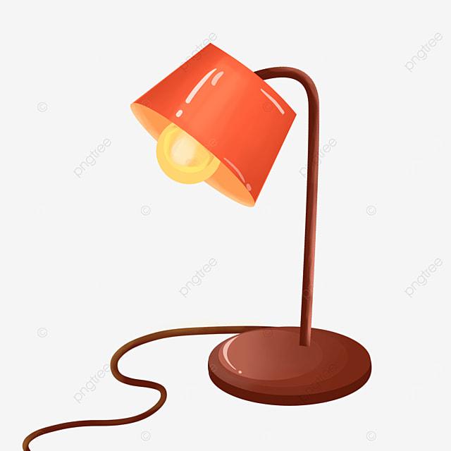 fan shaped orange lamp clip art