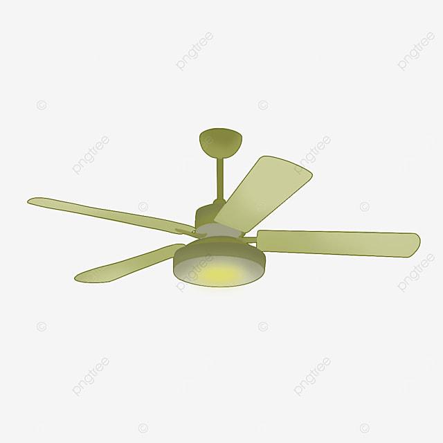 green large leaf ceiling fan clip art