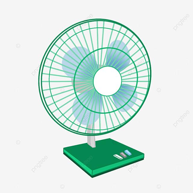 household desktop floor fan clip art