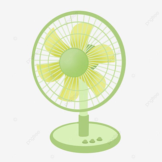 lime green floor fan