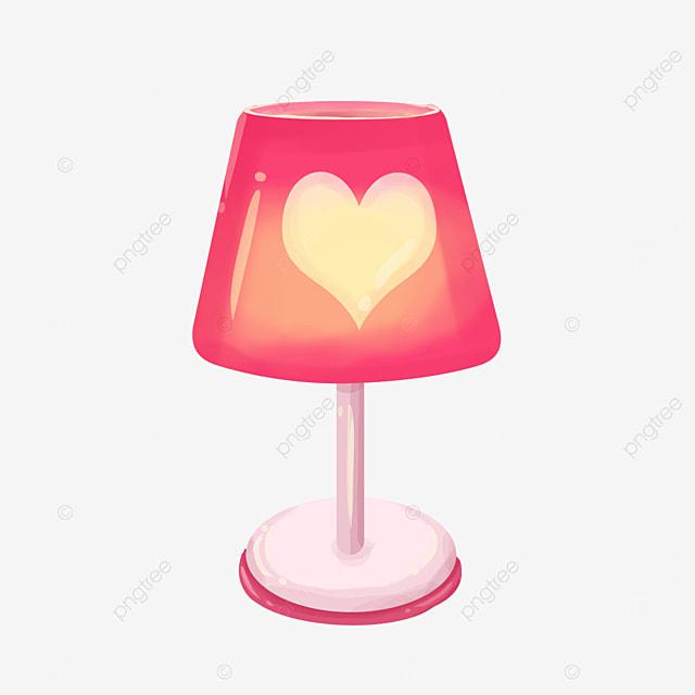 love pink lamp clip art