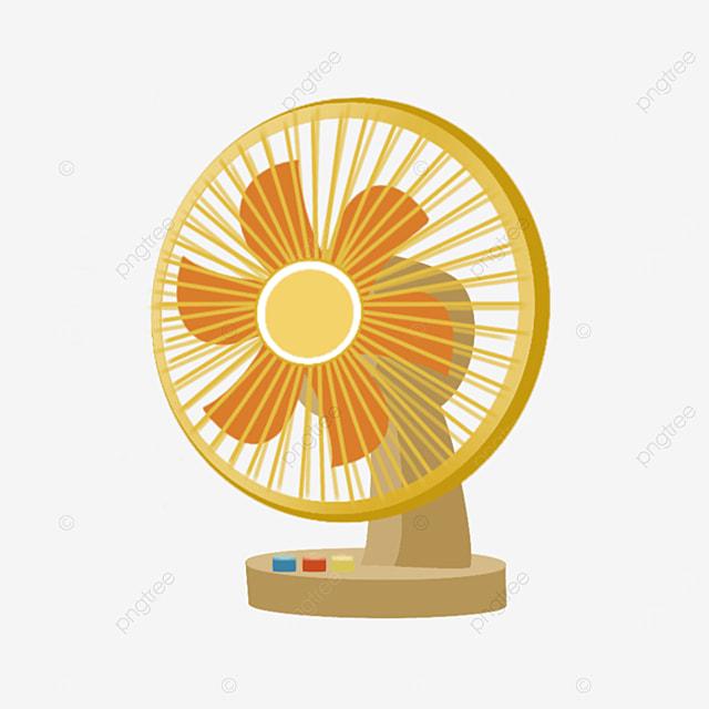 orange household floor electric fan clip art